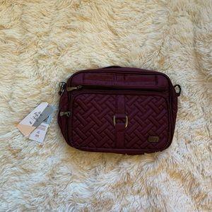 BRAND NEW Lug Carousel XL Bag in Shimmer Wine